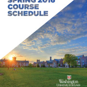 WUSTL Spring 2016 Course Catalog Cover